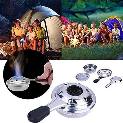 TOOGOO portatil mini cocina de camping al aire libre estufa de acero inoxidable estufa a prueba