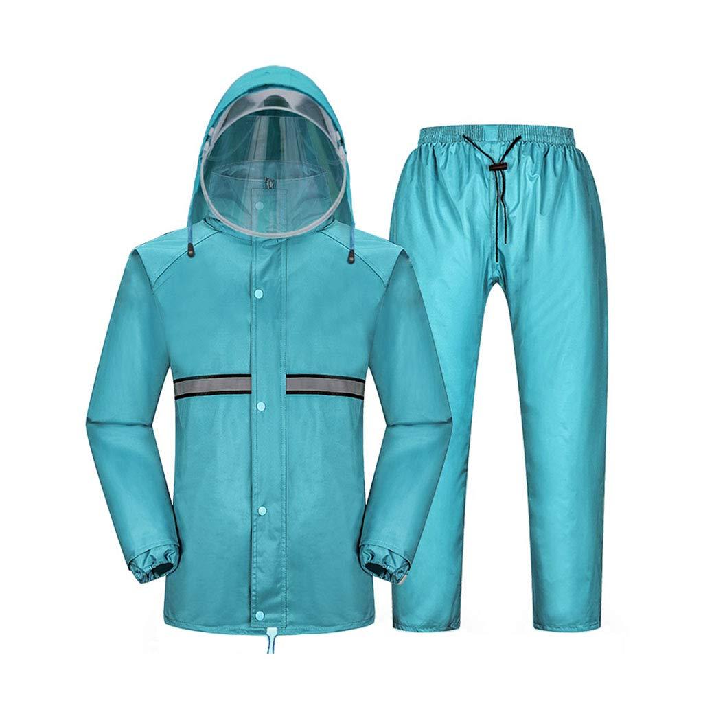 LYP-Rainwear Regen Anzug Unisex Regenmantel Set Split-Typ Atmungsaktiver Regenmantel + Hose Wasserdicht Regenbekleidung für Outdoor Wandern/Angeln / Bergsteigen