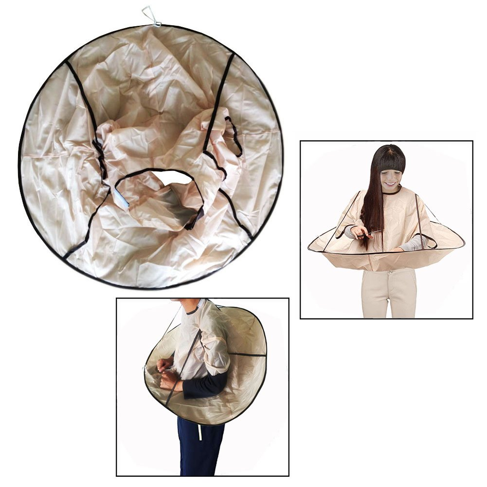 OFKPO Umbrella Style Hair Cutting Cloak Salon Professional Hair Styling Cape Salon Barber Hairdressing Gown For Adult