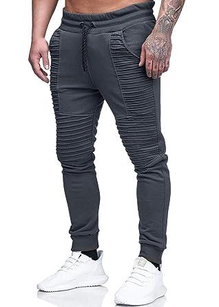 5ca65d2a5e53a Yidarton Hommes Jogging Pantalon Casual Slim Fit Pantalon de Sport Jogger  Survêtement Sweat Pants (B
