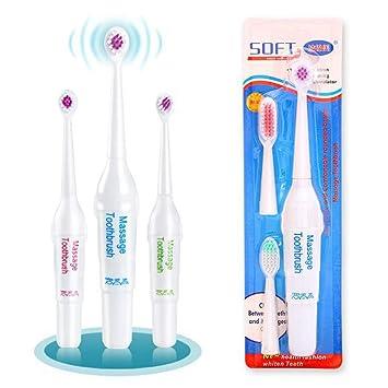 Sisaki Cepillos de dientes eléctricos de Cepillo de dientes de masaje eléctrico a batería con 3 cepillos fijados Colores aleatorios: Amazon.es: Salud y ...