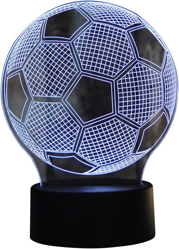 Homeofying Lámpara de Control táctil con diseño de balón de fútbol ...