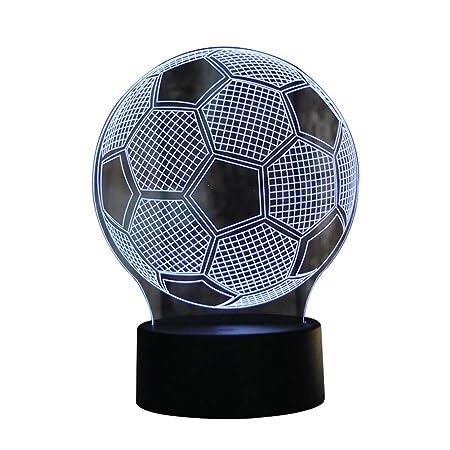 AchidistviQ - Lámpara de Control táctil de balón de fútbol 3D, 7 ...