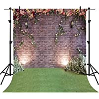 OUYIDA 8X8FT Seamless Brick Wall Flower Pictorial cloth photography Background Computer-Printed Vinyl Backdrop PCK05B