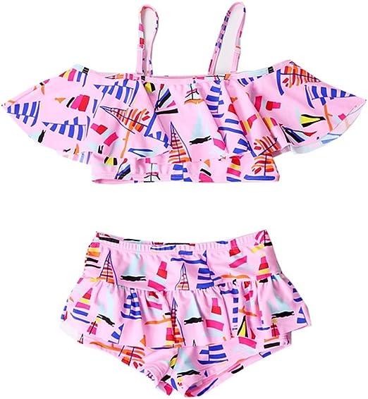 Guolipin Traje de baño niña Traje de baño para niños Bikini Boxer ...