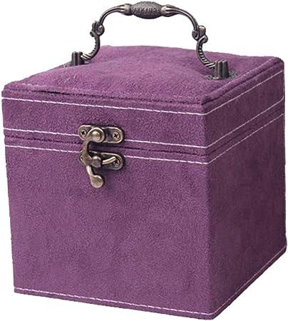 H HILABEE Caja de Almacenamiento de Joyas, También Puede Poner Todo Tipo de Objetos Pequeños, Hacer Pequeñas Cosas y Recibir un Estuche - Púrpura: Amazon.es: Hogar