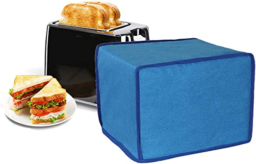 4 Slice Toaster Cover Blue Bread Machine Parts Waterproof Kitchen Toaster Appliance Cover