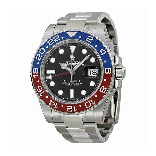 Rolex - Reloj GMT-MASTER II de oro blanco rojo pepsi y azul cerámica jamás usado 116719 2016.: Rolex: Amazon.es: Relojes