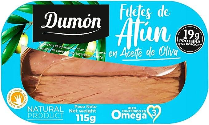 DUMON - 12 unidades. Filetes de Atún en Aceite de Oliva en ...