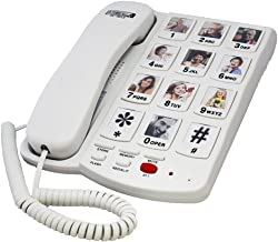 Amplified Speakerphone with Photo Buttons - Hearing Aid Compatible