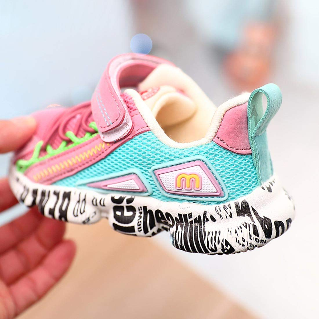 YIBLBOX Kids Baby Boys Girls Breathable Mesh Shoes Unisex Children Sport Running Sneakers
