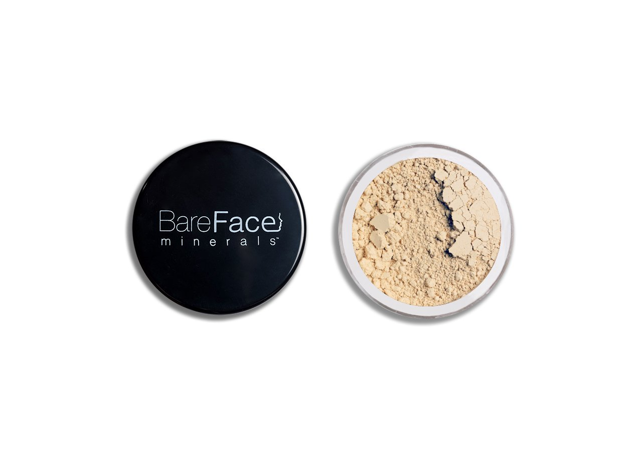 Bare Face Minerals Shine Reduction Finishing Powder | Mineral Veil | Loose Powder Veil | 100% Natural | Water Resistant & Perspiration Proof | 6g NET (Light-Glow) BareFace minerals®