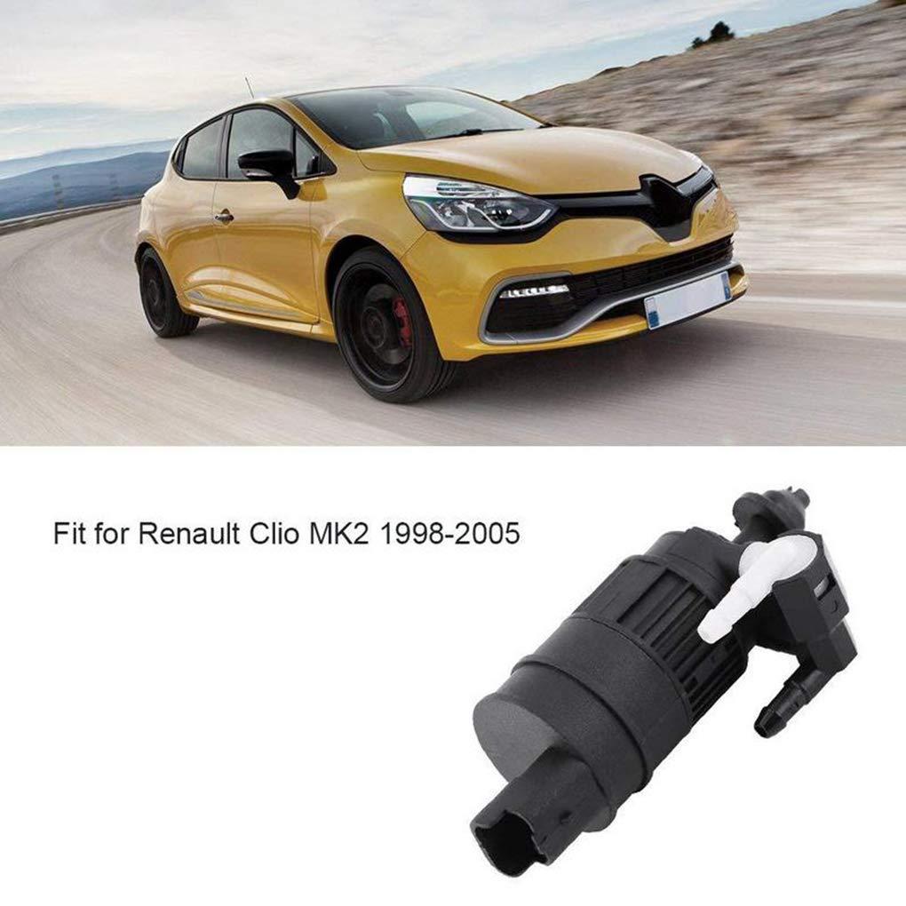 LEVEL GREAT Frente Coche Parabrisas Trasero del Parabrisas Doble Salida de la Bomba Lavadora reemplazo para Renault Clio MK2 1998-2005 05-260B: Amazon.es: ...