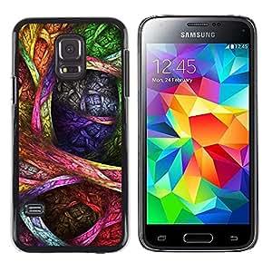iKiki Tech / Estuche rígido - Colorful Drawing Ink Art Pattern - Samsung Galaxy S5 Mini, SM-G800, NOT S5 REGULAR!