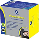 AF Phone-Clene Cleaning Wipes for Telephone Bactericidal Ref PHC100 [Pack of 100]