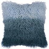 Decorative Pillow Cover - SLPR Ombre Mongolian Lamb Fur Throw Pillow Cover (16