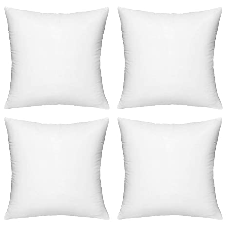 Sensational Amazon Com Hippih 4 Pack Pillow Insert 20 X 21 Inch Caraccident5 Cool Chair Designs And Ideas Caraccident5Info