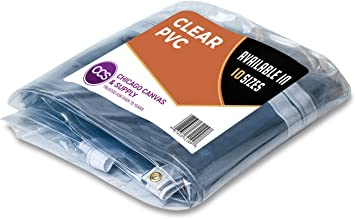 Ccs Chicago Canvas Supply Clear Vinyl Tarp 8 By 12 Feet Available In 9 More Sizes Amazon Com