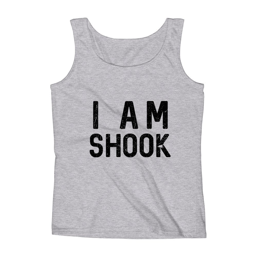 Mad Over Shirts I Am Shook Unisex Premium Tank Top