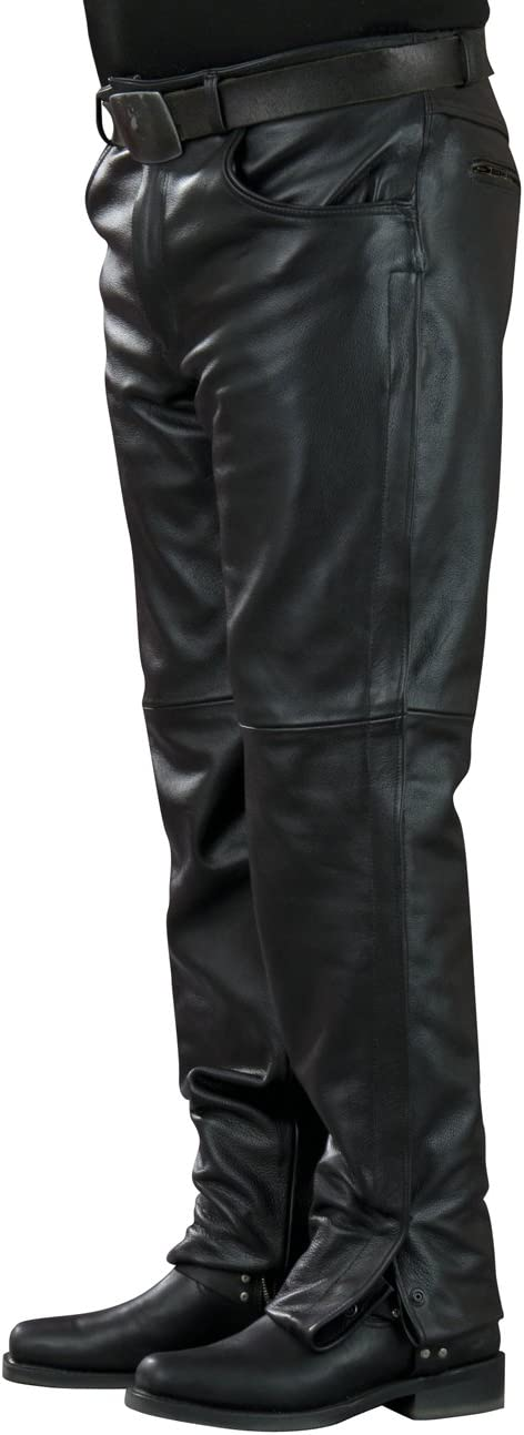 Mossi Inseam Mens Leather Pants Black, Size 40