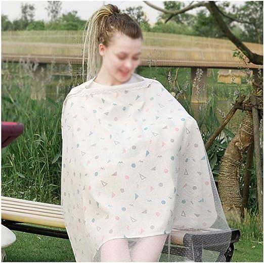BingWS 100% algodón Transpirable Cubierta de Lactancia Materna ...