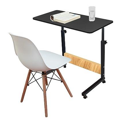 Jerry & Maggie – Mesa ajustable para portátil escritorio portátil con 4 ruedas de madera Flexible