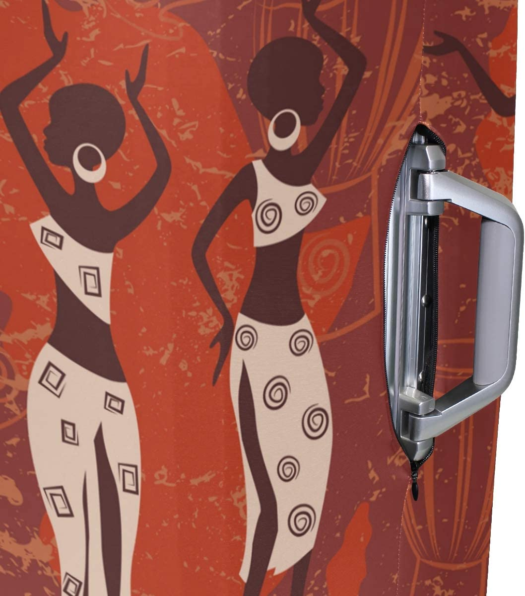 FANTAZIO Africa Women And Drum Suitcase Protective Cover Luggage Cover