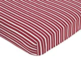 Sweet Jojo Designs Vintage Aviator Fitted Crib Sheet for Baby and Toddler Bedding Sets - Red Stripe Print Reviews