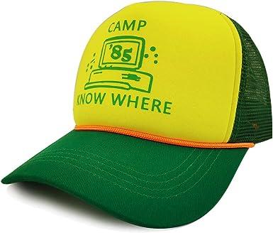 Haho Stranger Things Dustin - Gorro de béisbol para Adultos, Talla única, Color Verde y Amarillo