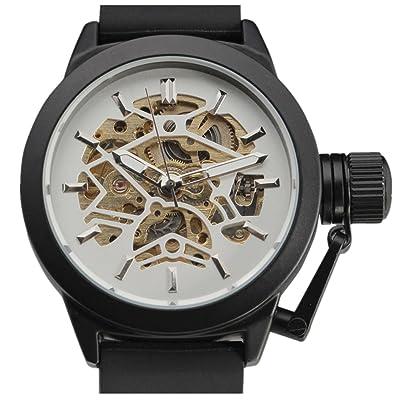 Cemavin pour homme Mode automatique mécanique Rubber Band montre bracelet Cemavin exclusif