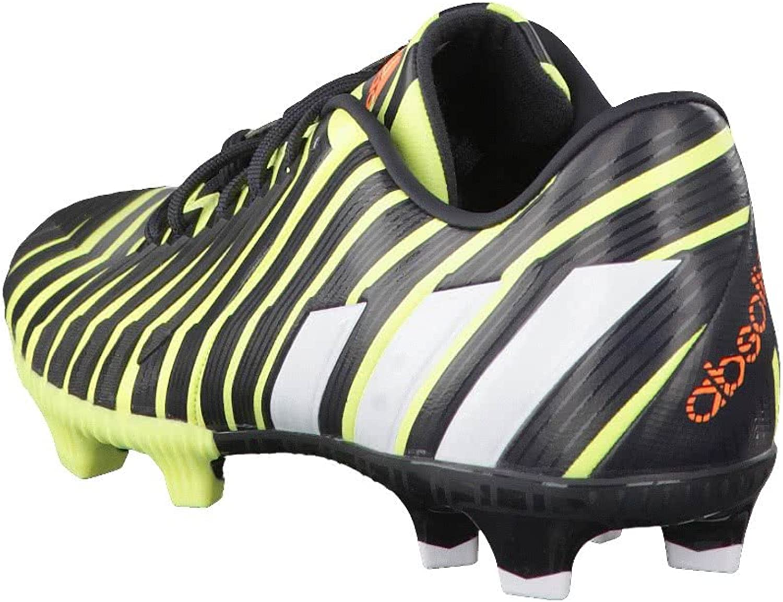 adidas Predator Absolion Instinct FG, Chaussure de Foot, Black-Solar Red Noir Ltflye Ftwwht Dk Grey 017