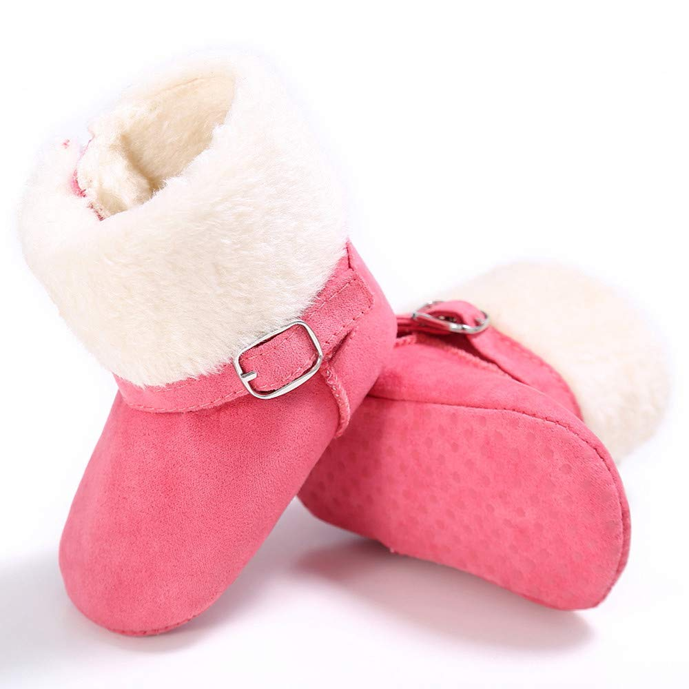 Lucoo baby boots,Baby Girl Soft Booties Snow Solid Cashmere Boots Toddler Warm Shoes