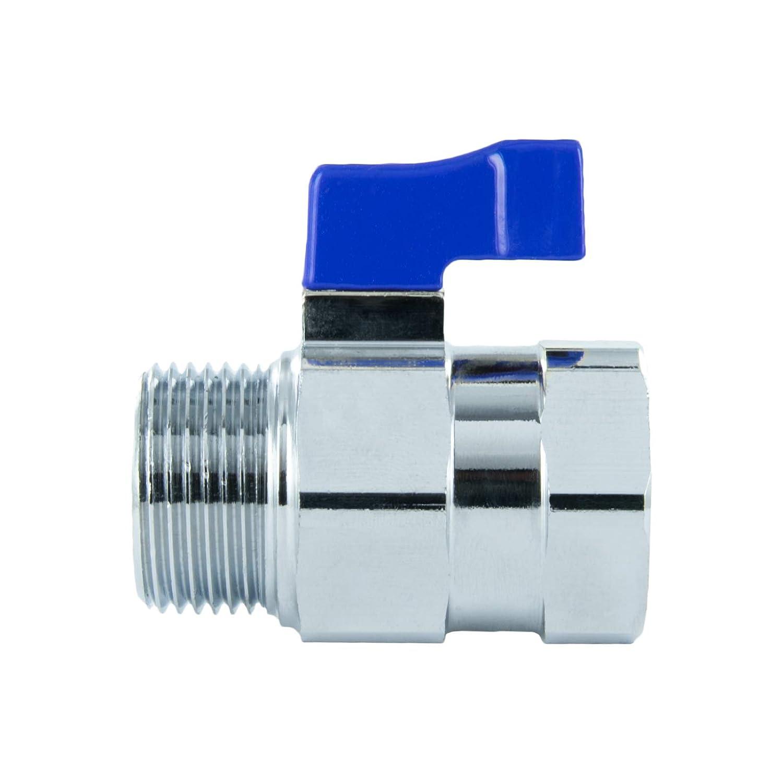 palanca azul V/álvula de esfera mini