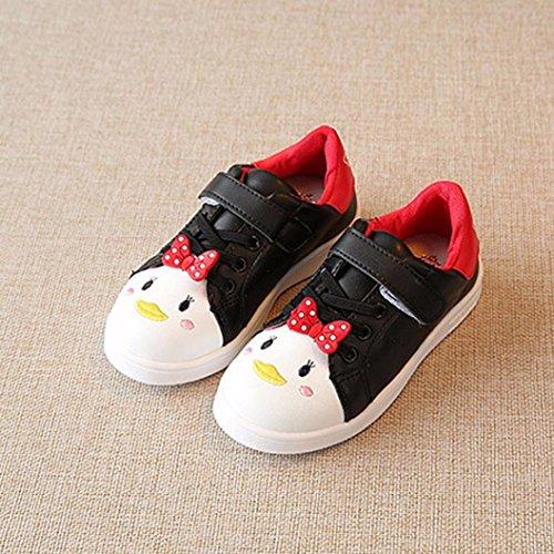 IGEMY Tier Art Turnschuh, Kinder arbeiten Mädchen Sport Normallack Karikatur Turnschuh Baby Schuhe um Schwarz