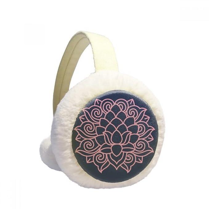 Pink Lotus Flower Plant Flower Winter Earmuffs Ear Warmers Faux Fur Foldable Plush Outdoor Gift