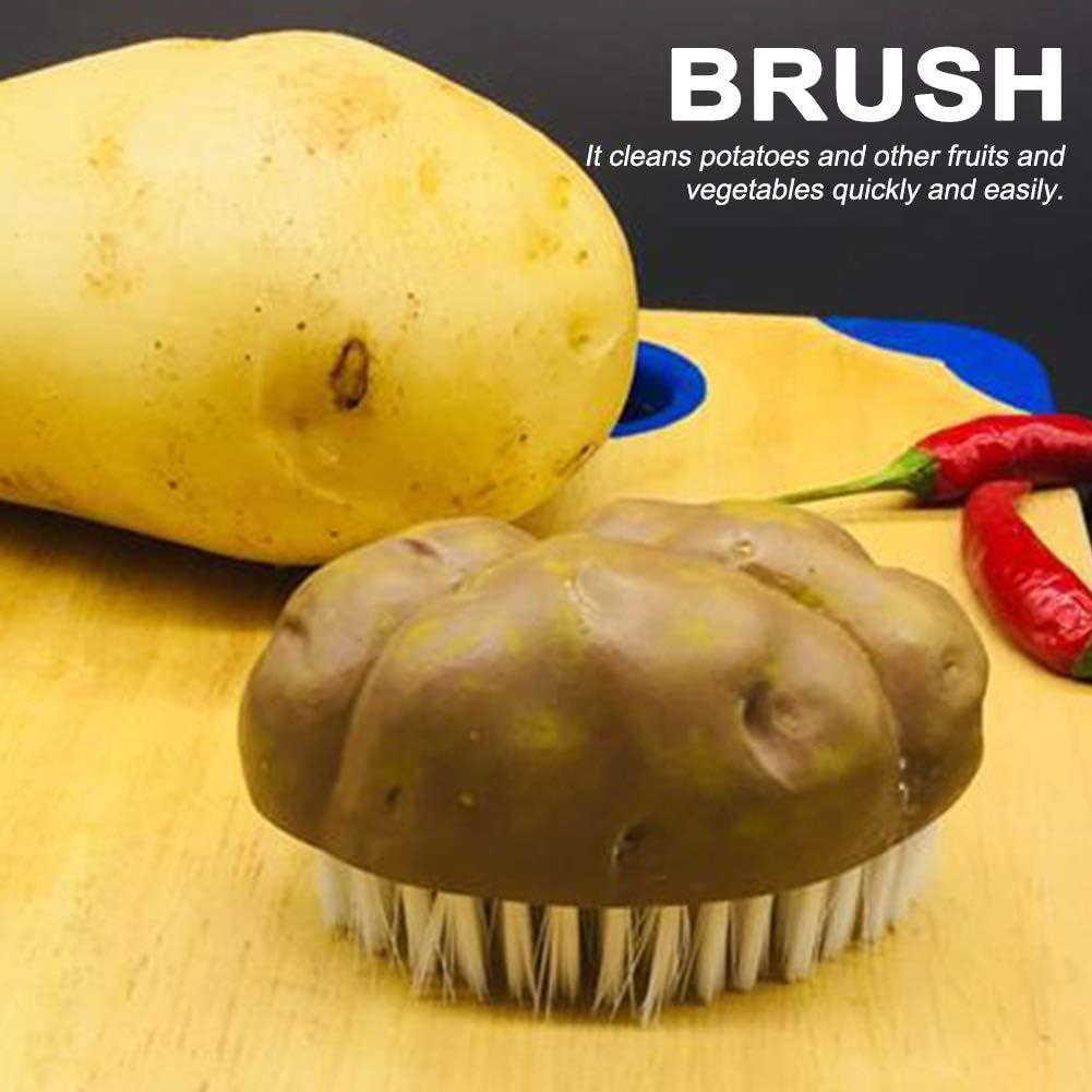 multiusos de resina para cosecha cepillo de limpieza con forma de patata verduras patatas juego de limpieza para lavar zanahorias alimentos 8cm* 5cm*5cm Marr/ón y blanco Brocha para verduras