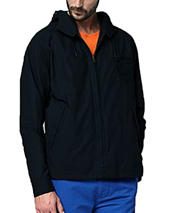 8bf91a2511d1 Lacoste Hooded Jacket Black BH9344 Mens  Amazon.co.uk  Clothing