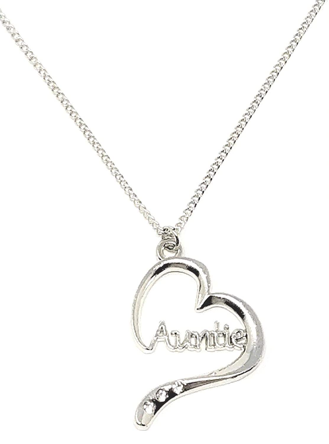 f7dd0d1938a0e Auntie Heart Shape Charm Pendant/Necklace with Love Card by Sterling Effectz