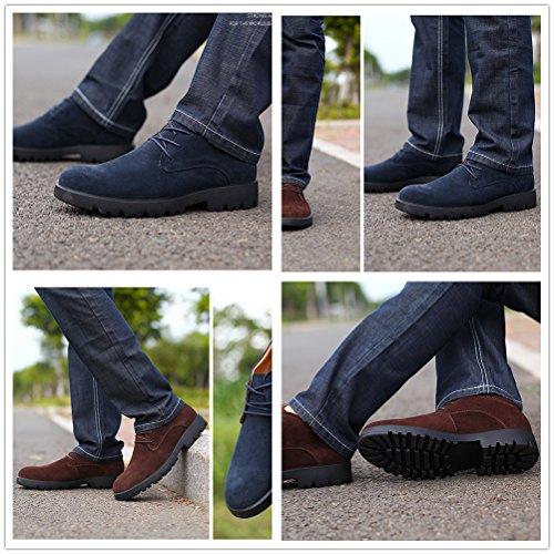 Scarpe Da Uomo In Pelle Casual Antiscivolo Per Camminate Quotidiane, Escursioni E Attività Allaria Aperta Marrone Scuro