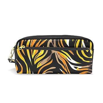 Tiger Texture - Estuche escolar para lápices y cosméticos ...