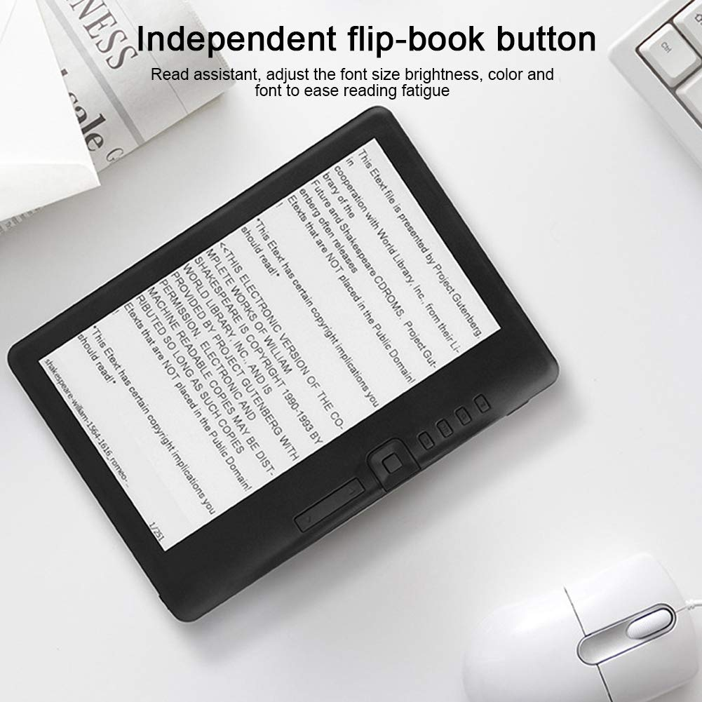 ASHATA Lector de Libros electrónicos de 7 Pulgadas, Impermeable ...