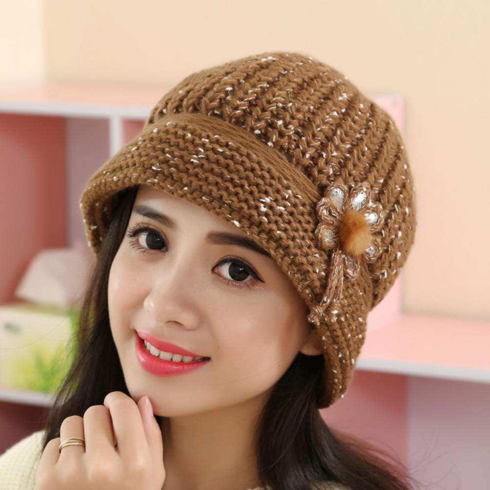 RangYR Autumn and Winter hat Warm Wool hat Ladies Knit hat