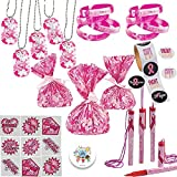 Pink Ribbon Breast Cancer Awareness Survivor and Charity Giveaways Favor Pack For 12 Pink Ribbon Camo Necklaces, Cellophane Bags, Camo Bracelets, Pen Necklaces, Stickers, Super Hero Tattoos, and Pin