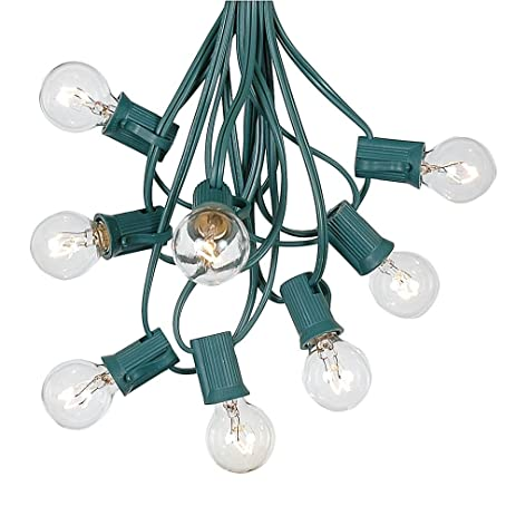 G30 Patio String Lights With 125 Globe Bulbs   Garden Hanging String Lights    Vintage Backyard