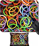 MSD Mouse Wrist Rest and Small Mousepad Set, 2pc Wrist Support design 26827825 Colorful rubber loom bands background
