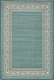 Unique Loom Williamsburg Collection Traditional Border Teal Area Rug (6' 0 x 9' 0)