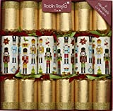 """6 X 12"""" English Christmas Crackers From Robin Reed - Nutcracker collectables"""