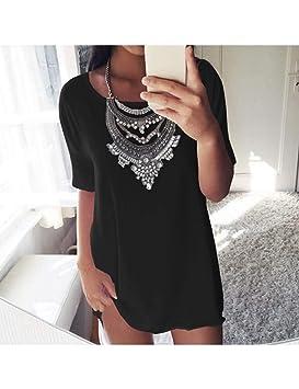 Femme T Lkji À Pour Femmes Large Courtes Shirt D'été Manches QdshrCt