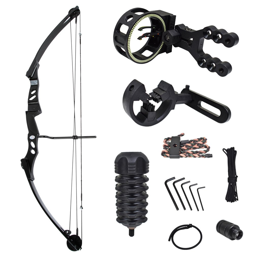iGlow 55 lb Black Archery Hunting Compound Bow with Premium Kit 175 150 80 50 40 lbs Crossbow by iGlow
