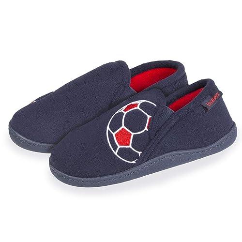 Isotoner - Zapatillas de Estar por Casa Niños, Azul (Azul), 33 EU: Amazon.es: Zapatos y complementos